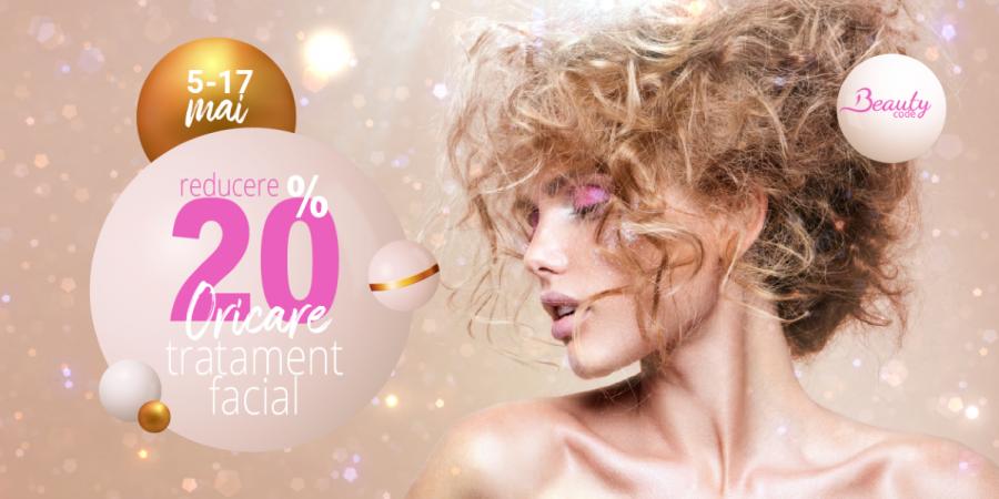 20% reducere la oricare tratament facial. Pentru orice problemă a tenului, noi avem soluția
