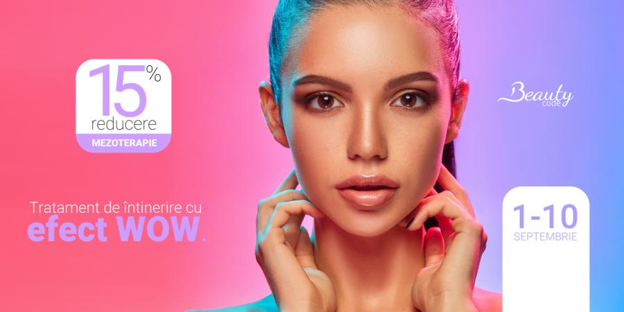 Toamna se numără ofertele de beauty: descoperă un tratament de întinerire cu efect WOW, la preț promoțional